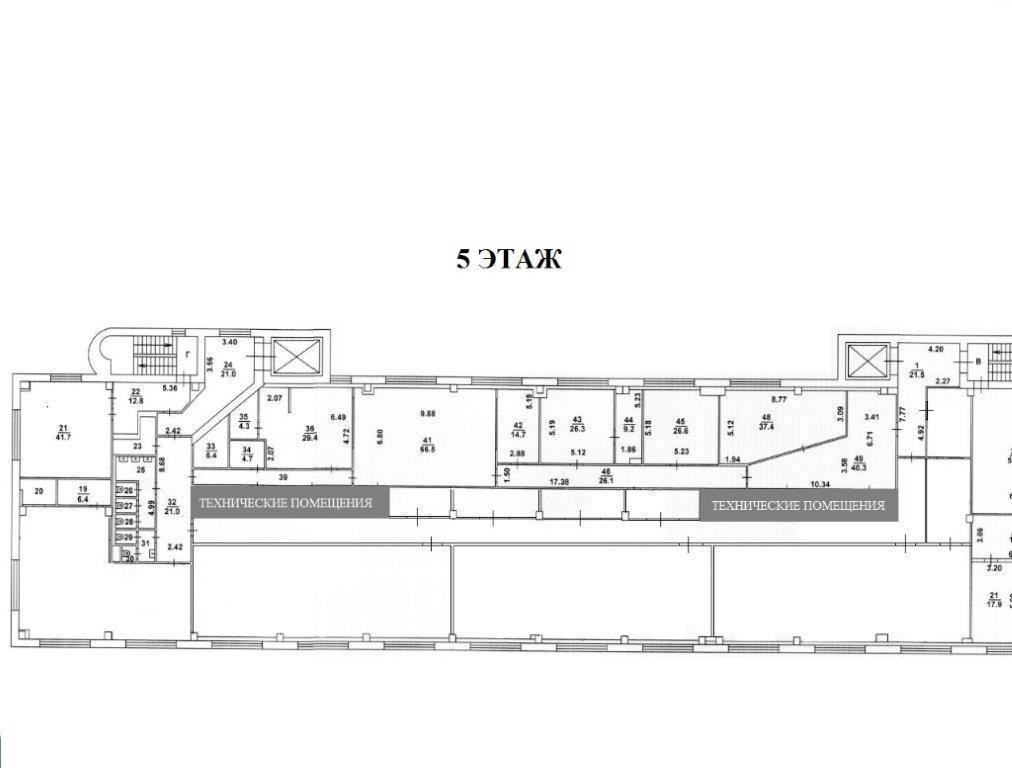 Поэтажный план помещения 635 кв.м.